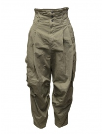 Womens trousers online: Kapital khaki high-waisted multi-pocket pants
