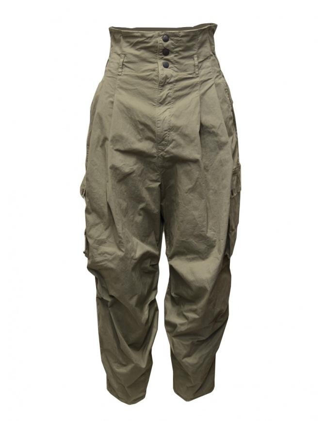 Kapital pantalone multitasche vita alta kaki K2006LP209 KHA pantaloni donna online shopping