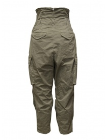 Kapital khaki high-waisted multi-pocket pants