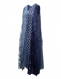 Kapital long sleeveless indigo mixed fantasy dress