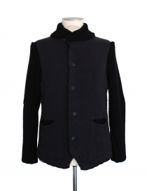 Mens cardigans online: Label Under Construction grey black cardigan