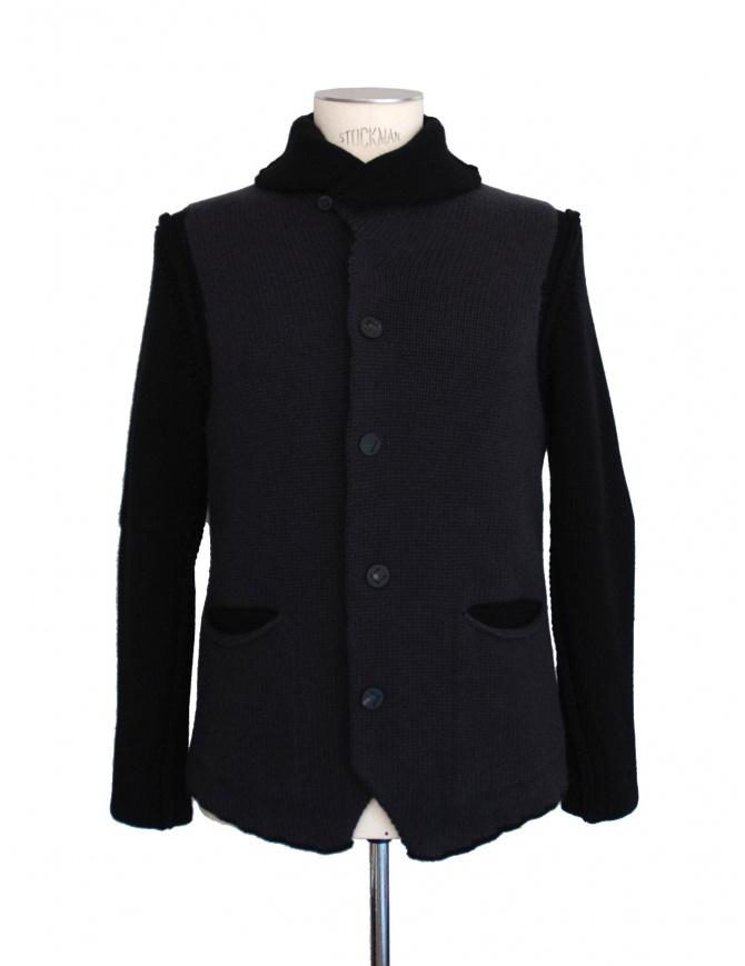 Giacca grigio nero Label Under Construction 20YMJC49 WA1 cardigan uomo online shopping