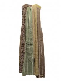 Kapital long sleeveless dress in mixed brown pattern price