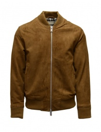 Selected Homme Rubber brown suede bomber jacket online