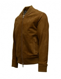 Selected Homme Rubber brown suede bomber jacket