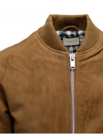 Selected Homme Rubber brown suede bomber jacket mens jackets buy online