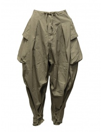 Kapital khaki wide pants with side pockets K2005LP197 KHA order online