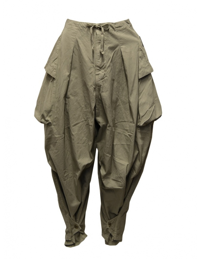 Kapital khaki wide pants with side pockets K2005LP197 KHA womens trousers online shopping
