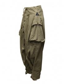 Kapital pantalone largo con tasche laterali khaki