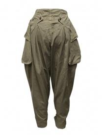 Kapital pantalone largo con tasche laterali khaki prezzo