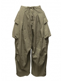 Kapital khaki wide pants with side pockets womens trousers buy online
