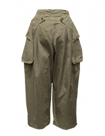 Kapital khaki wide pants with side pockets womens trousers price