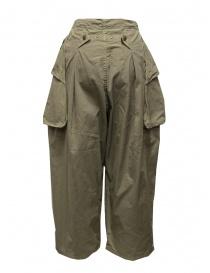 Kapital pantalone largo con tasche laterali khaki pantaloni donna prezzo