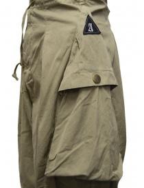 Kapital khaki wide pants with side pockets buy online price