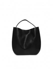 D'Ottavio E48 borsa nera tonda stampa lucertola online