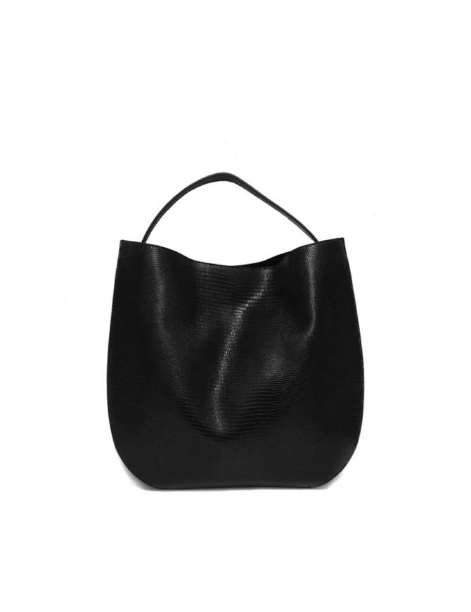 D'Ottavio E48 black lizard print round bag E48TS999 bags online shopping