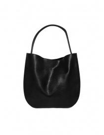 D'Ottavio E48 black lizard print round bag bags buy online