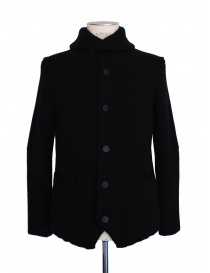 Mens cardigans online: Label Under Construction black cardigan