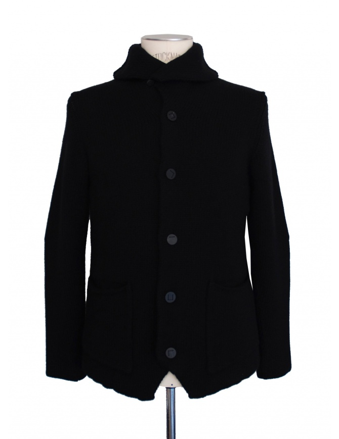 Label Under Construction black cardigan 20YMJC49 WA1 mens cardigans online shopping