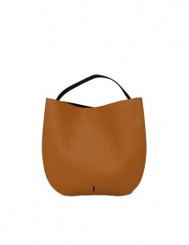 Bags online: D'Ottavio E48 caramel and black round bag