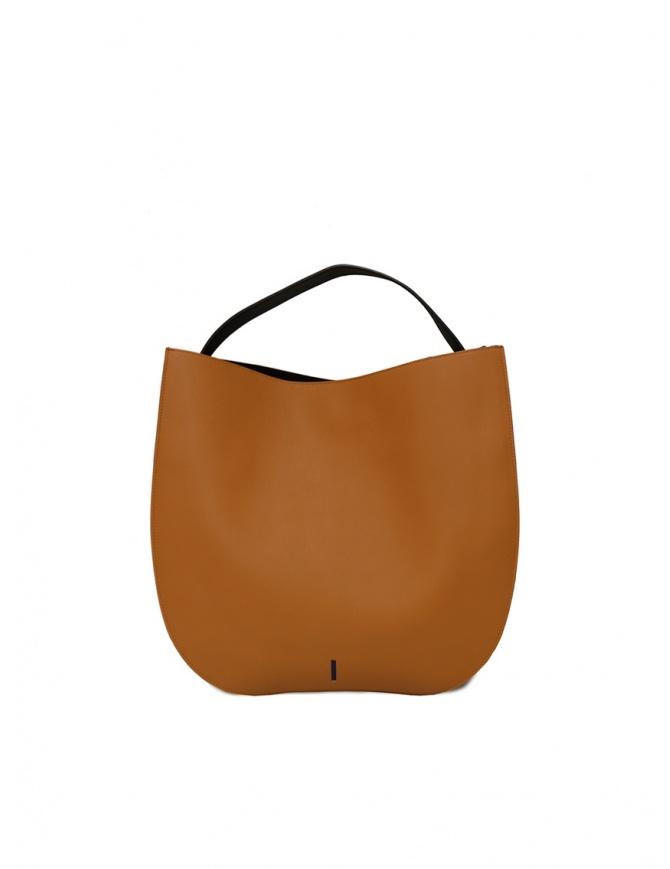 D'Ottavio E48 borsa tonda nera e caramello E48VO108VO999 borse online shopping