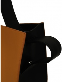 D'Ottavio E48 borsa tonda nera e caramello acquista online prezzo