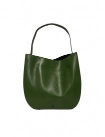 D'Ottavio E48 green lizard effect round bag buy online price