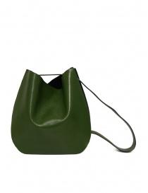 D'Ottavio E48 borsa tonda verde effetto lucertola online