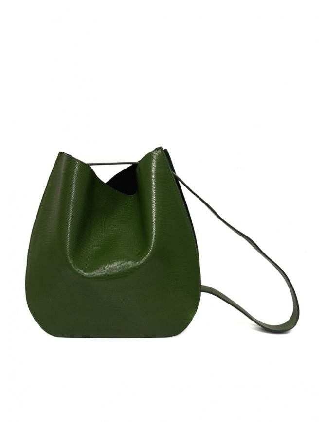 D'Ottavio E48 green lizard effect round bag E48TS502 bags online shopping