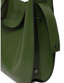 D'Ottavio E48 borsa tonda verde effetto lucertola