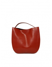 Bags online: D'Ottavio E48 red round bag with lizard effect