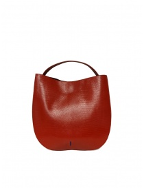 D'Ottavio E48 red round bag with lizard effect