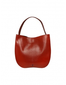 D'Ottavio E48 red round bag with lizard effect bags buy online
