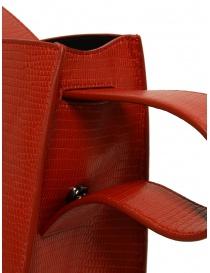 D'Ottavio E48 red round bag with lizard effect buy online price