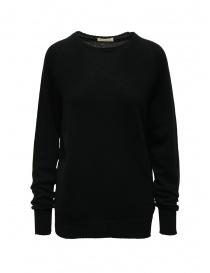 Womens knitwear online: Ma'ry'ya black cashmere sweater