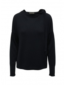 Ma'ry'ya navy sweater with ribbons on the neck online