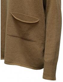 Ma'ry'ya pullover marrone con tasca