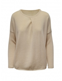 Ma'ry'ya light beige sweater with front crease online