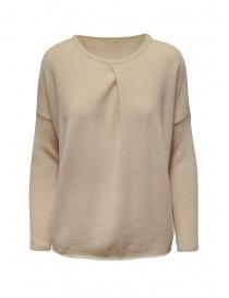 Ma'ry'ya maglia beige chiaro con piega frontale online
