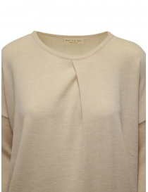 Ma'ry'ya light beige sweater with front crease