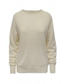 Womens knitwear online: Ma'ry'ya white cashmere sweater