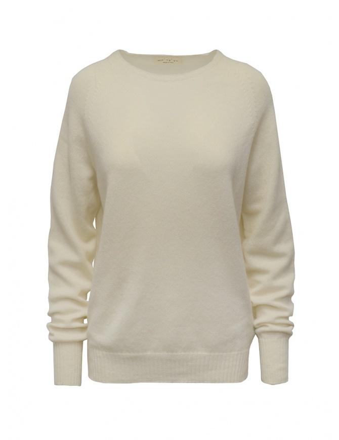 Ma'ry'ya white cashmere sweater YDK004 1WHITE womens knitwear online shopping
