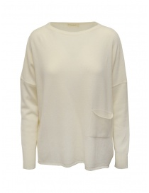 Ma'ry'ya pullover bianco con tasca online