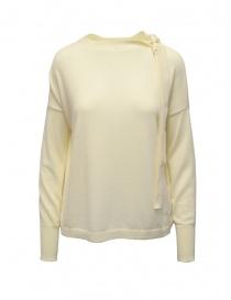 Maglieria donna online: Ma'ry'ya maglia bianca con nastri al collo