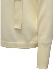 Ma'ry'ya white shirt with ribbons at the neck womens knitwear buy online