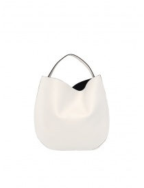 D'Ottavio E48 borsa rotonda bianca