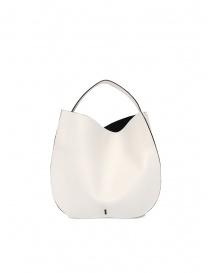 D'Ottavio E48 borsa rotonda bianca online