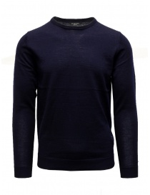 Mens knitwear online: Selected Homme blue merino wool pullover