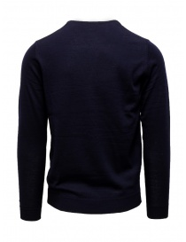 Selected Homme pullover in lana merino blu