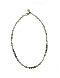 Jewels online: ElfCraft tubular necklace in silver African turquoise and labradorite
